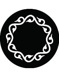 家紋シール 変わり唐草輪紋 布タイプ 直径40mm 6枚セット NS4-2786