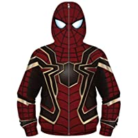 Boys Youth Teen Full-Zip Up Hoodies Costume Cosplay 3D Jackets Pullover