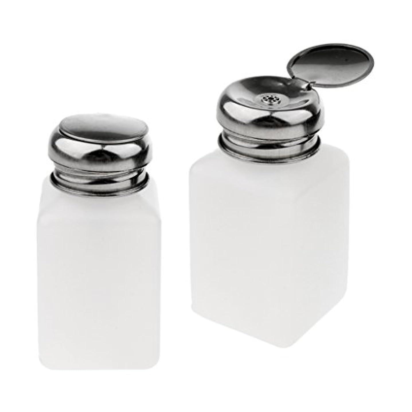 SM SunniMix 2個 プレスボトル 空ボトル ポンプボトル ロック可能 アルコール 液体 貯蔵 保護 全3サイズ - 200ミリリットル