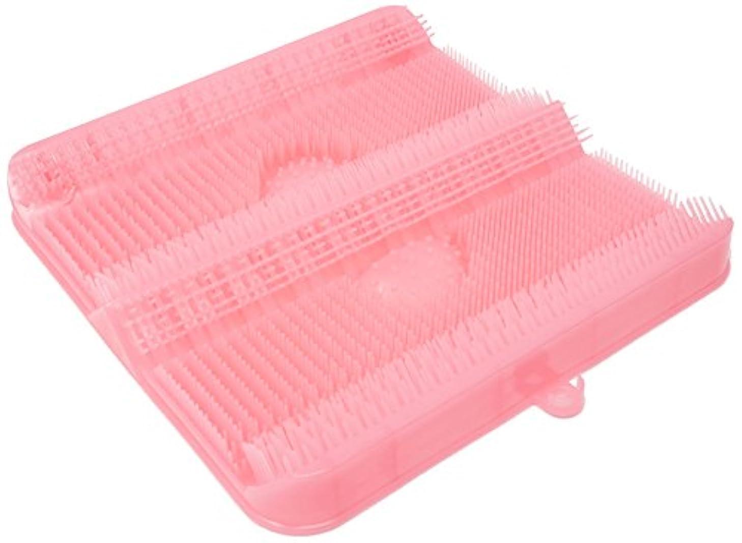偏心分数ブランクごしごし洗える!足洗いマット お風呂でスッキリ 足裏洗ったことありますか? HB-2814?ピンク