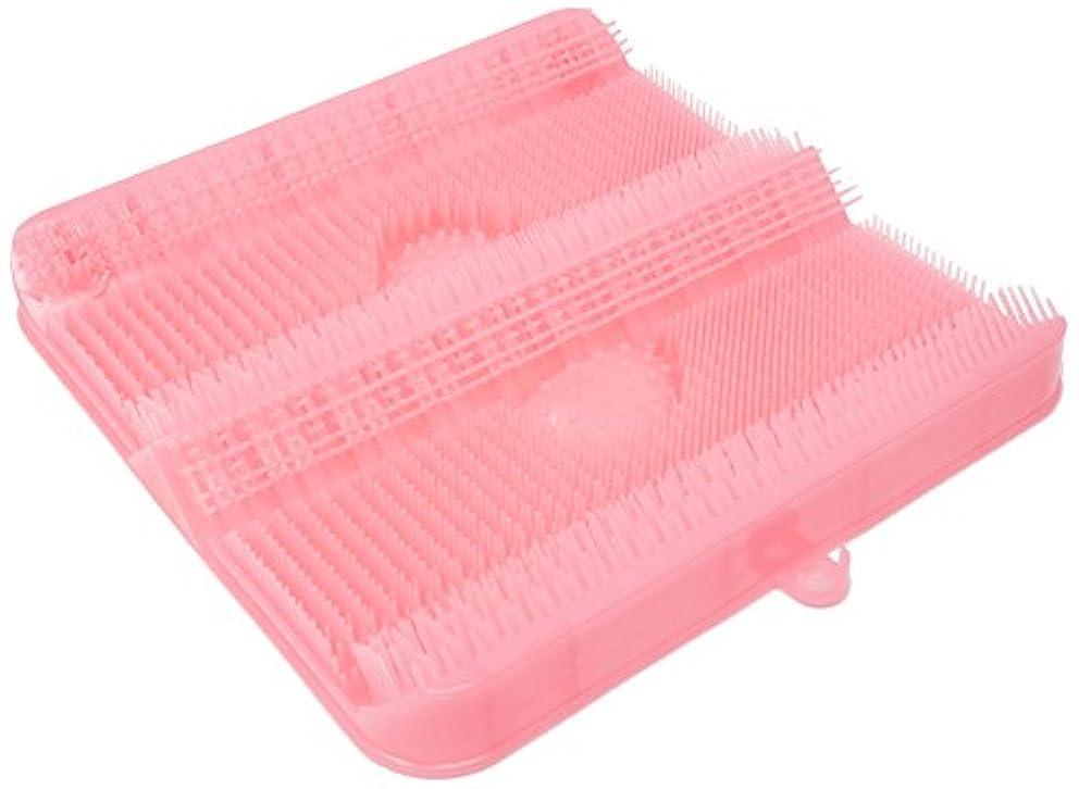 クッション動作アームストロングごしごし洗える!足洗いマット お風呂でスッキリ 足裏洗ったことありますか? HB-2814?ピンク