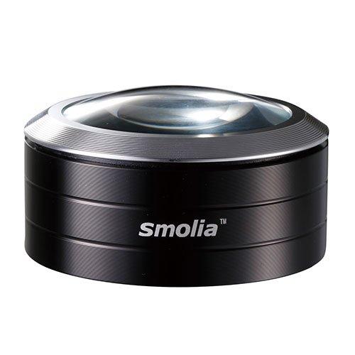 3R スリー・アールシステム 使い方簡単LED付卓上ルーペ [LED拡大鏡smolia]  ブラック 3R-SMOLIA-5