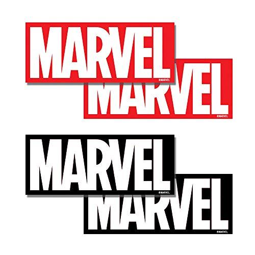 MARVEL BOX LOGO STICKER マーベルロゴステッカー4枚セット(レッド/ブラック各2枚入り)