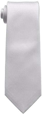 (フェアファクス)FAIRFAX(フェアファクス) ソリッドバスケット織ネクタイ SLD03 シルバーグレイ F