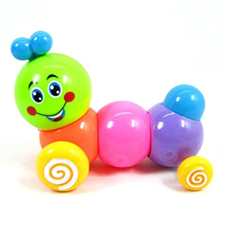 ベビーキッズInchworm CaterpillarsツイストClockwork Toy Forward Movement非毒性プラスチックカラフル