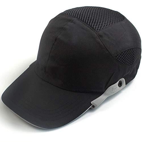 ヘルメット 防災 プロテクターキャップ 内蔵 メッシュ インナーキャップ 安全帽 軽量 作業ヘルメット 防災用キャップ 保護帽子 汗を止める 通気 速乾 吸汗 熱中症対策用 (ブラック)