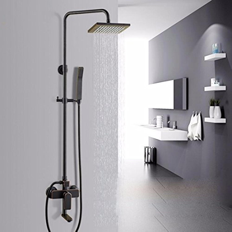 全銅の3枠の黒古が壁式のシャワーをかけて四方の増圧回転をかけて昇降して花をこぼすセットになる
