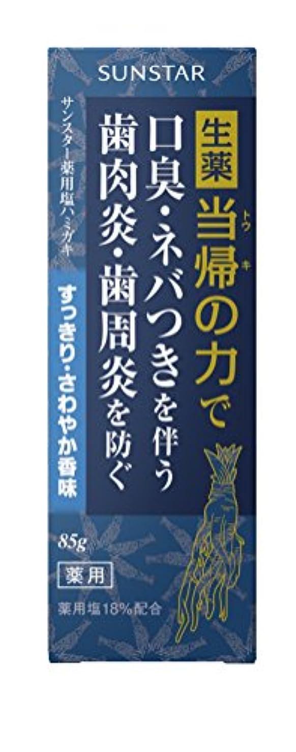 工場畝間メディアサンスター薬用塩ハミガキ 当帰の力すっきりさわやか香味 85g (医薬部外品)