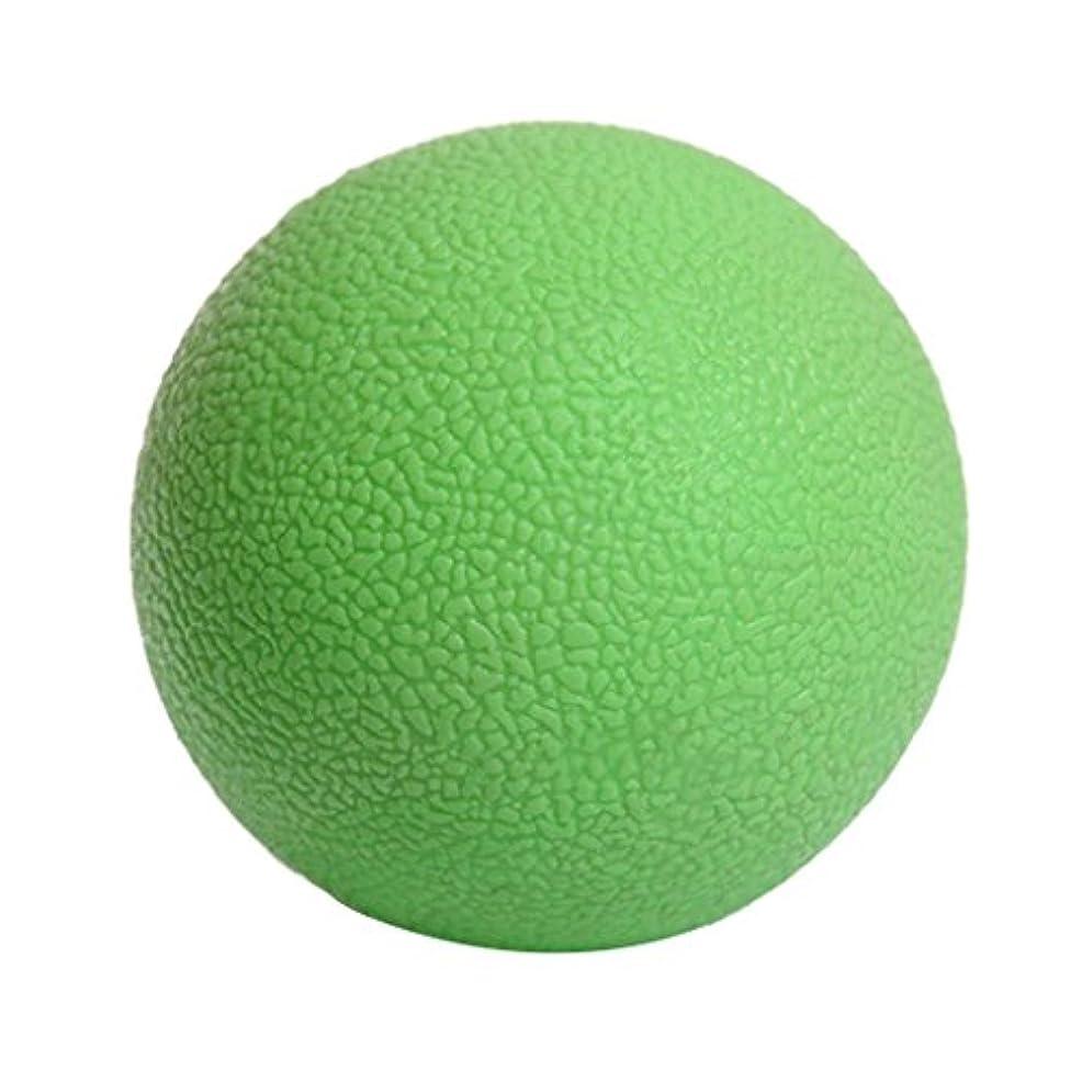 フィード直感ダッシュマッサージボール ジムフィットネス 筋肉マッサージ ボール トリガーポイント 4色選べる - 緑, 説明したように