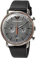 [エンポリオアルマーニ] 腕時計 AR11168 メンズ 正規輸入品 ブラック