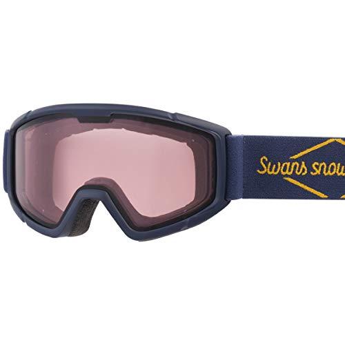 SWANS(スワンズ) 子供用 スキー スノーボード ゴーグル 5歳~12歳 くもり止め ミラー スキー スノーボード 140-DH NAV