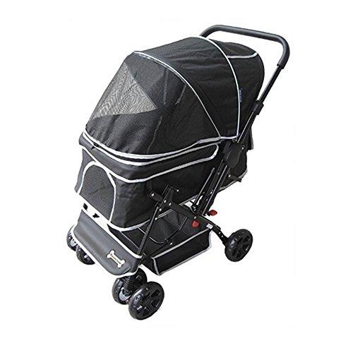ペッツバリュー ピッコロカーネ 対面式ペットカート PRIMO ブラック
