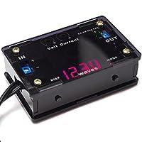 waves スモーク ケース付 DC-DC コンバーター 降圧型 電源モジュール USB出力 電圧表示 定電流 定電圧 可変 バッテリー充電 LED駆動 入力7-36V 出力1.25-32V 5A 日本語解説書付 (赤/黒)