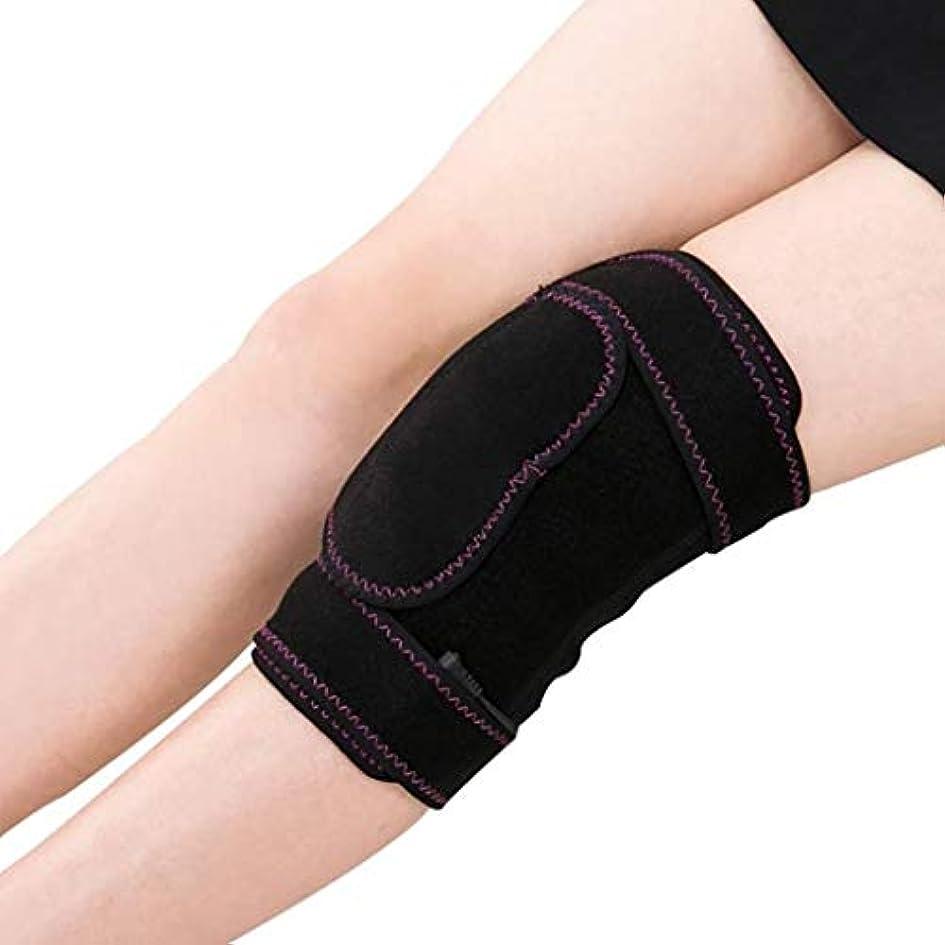 免除ビジター社員レッグマッサージャー、電気加熱式膝パッド、ホットコンプレッションセラピーツール、脚の筋肉の弛緩に適し、血液循環の促進、温度調節可能