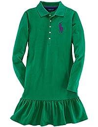 [ポロ ラルフローレン キッズ] POLO RALPH LAUREN CHILDREN 正規品 子供服 ガールズ ポロシャツ BIG PONY COTTON DRESS 40925606 並行輸入品 (コード:4079206308)
