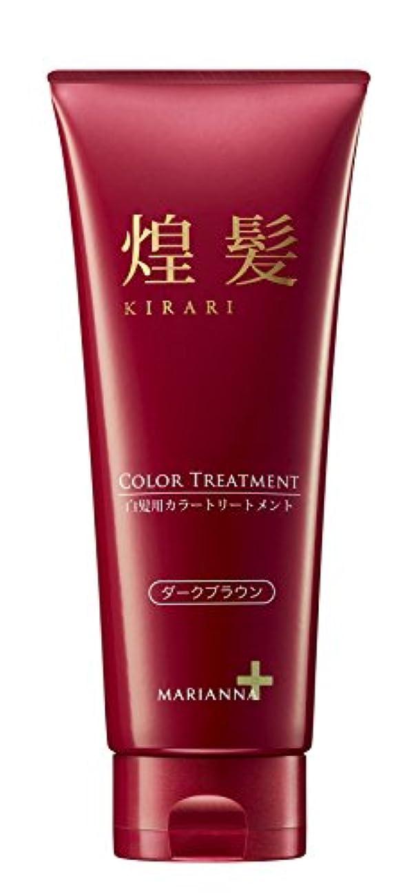 発明する鏡濃度マリアンナ 煌髪 カラートリートメント ダークブラウン200g