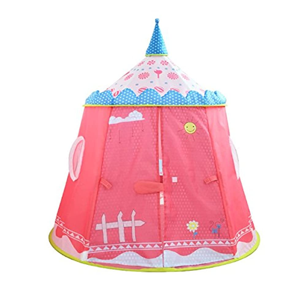 債権者天ソートLWT 子供の遊びテントベビーユート屋内と屋外のポータブル折り畳み式おもちゃの家(ピンク120 * 110センチメートル1のパッキング)