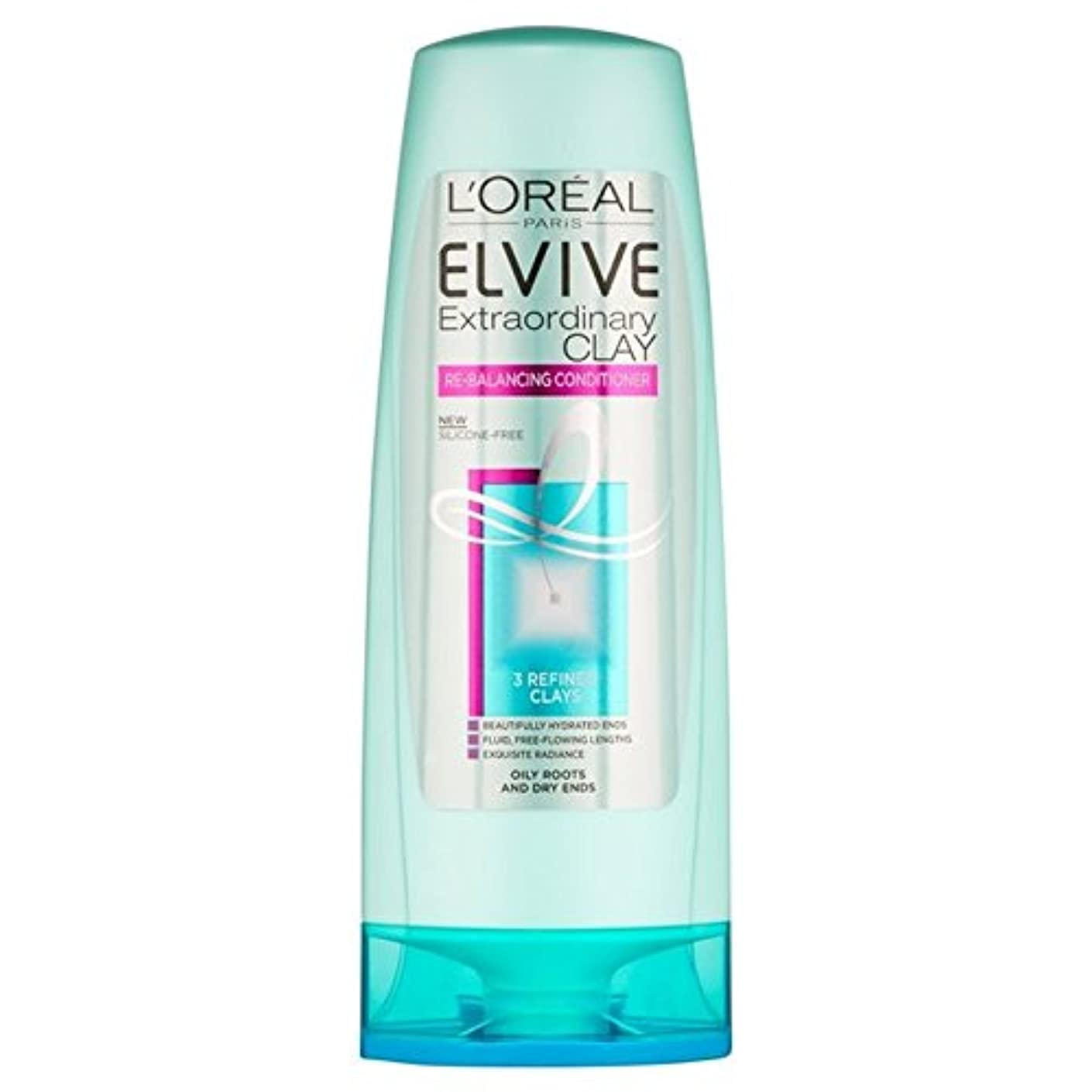 ロレアルパリ臨時粘土再バランシングコンディショナー250 x4 - L'Oreal Paris Elvive Extraordinary Clay Re-Balancing Conditioner 250ml (Pack...