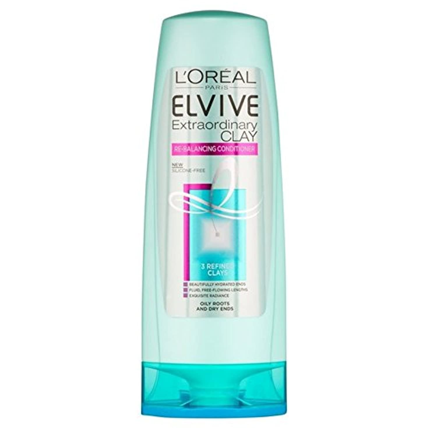 L'Oreal Paris Elvive Extraordinary Clay Re-Balancing Conditioner 250ml (Pack of 6) - ロレアルパリ臨時粘土再バランシングコンディショナー...