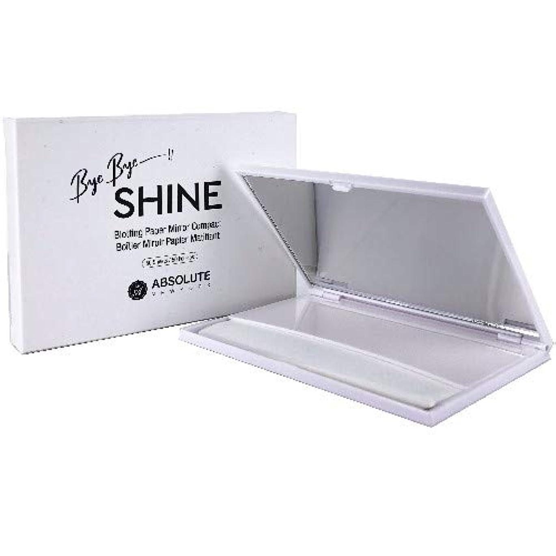 ピーク浪費誇大妄想(6 Pack) ABSOLUTE Bye Bye Shine Blotting Paper Mirror Compact (並行輸入品)