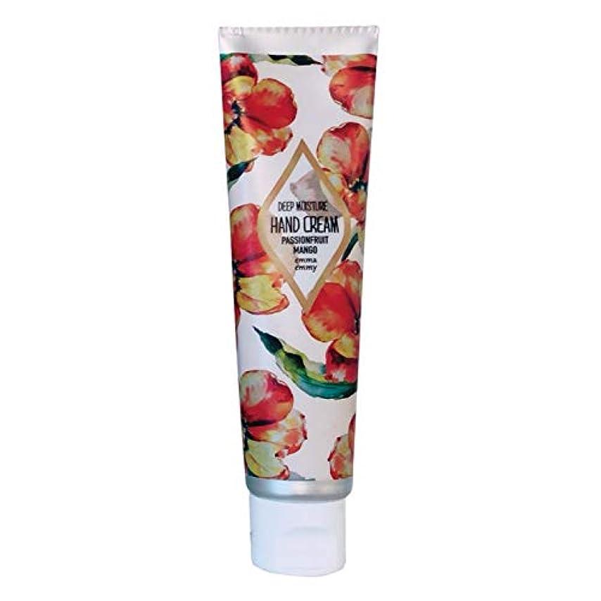 人工的な主要な用心emmaemmy(エマエミー)ハンドクリーム パッションフルーツマンゴー 40ml