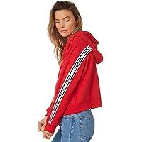 Levi's Women's Levi`S Logo Trim Hoodie Cotton Red