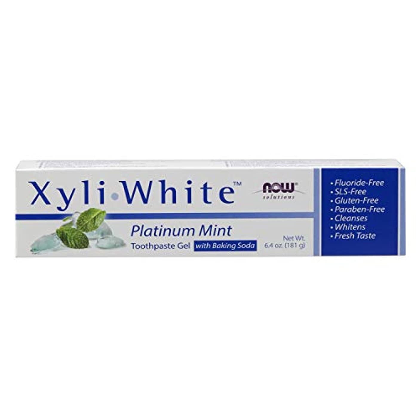 コーンコーン外部海外直送品 Now Foods Xyliwhite Platinum Mint with Baking Soda Toothpaste, 6.4 Oz