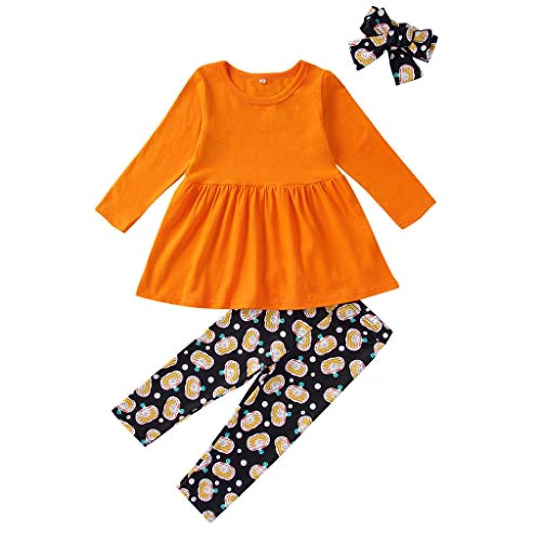 無駄に裁判所インレイMISFIY ハロウィーン キッズ 子供 新生児 ベビー服 ロンパース 上下 3セット ヘアバンド スカート 肌着 かわいい 柔らかい パジャマ 誕生記念 出産祝い 寝相アート