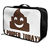 レッドカラー 糞 トイレット 表情 ボストンバッグ キャリーオンバッグ ガーメントバッグ 手提げ 鞄 バッグ ハンドバッグ 旅行 男女兼用 機内持込可 収納整理 折りたたみ トラベルバッグ フォールディングバッグ