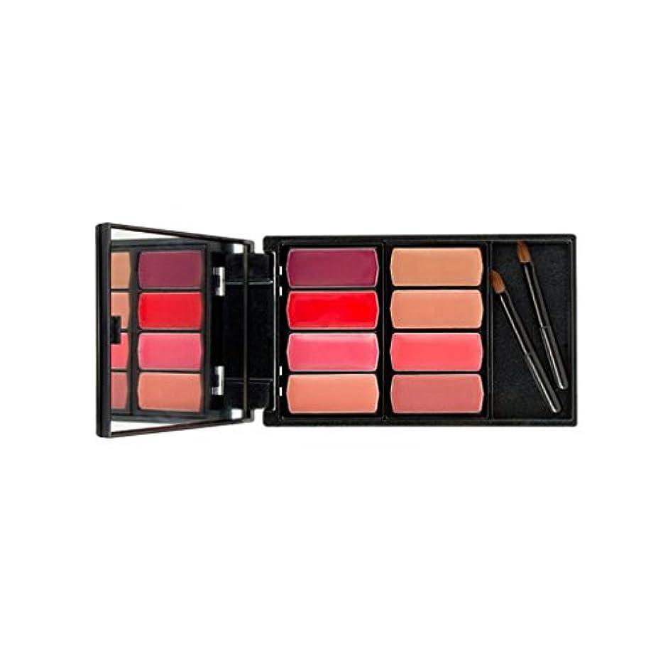 意見たまに魅力的であることへのアピールBaosity 8色入り パレットキット 持ち運び便利 口紅クリーム 化粧リップ/チーク/アイシャドー ミニブラシ付き  - #2