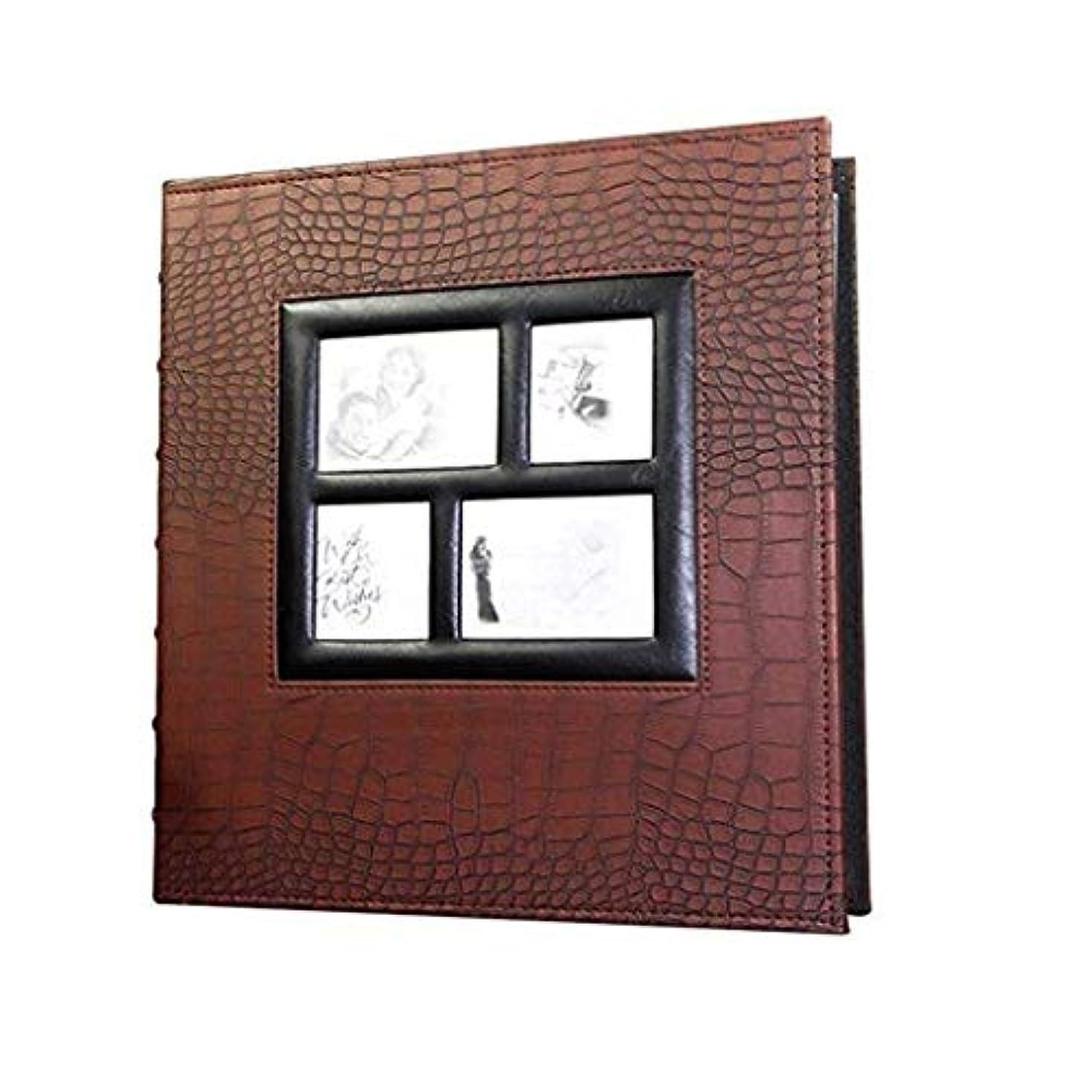 アーティファクトピグマリオンジャムJJSPP インタースティシャルアルバムレザールック独自の写真を挿入フォトアルバムは写真を保持します (Color : Brown)