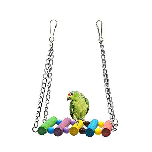 [해외]QZSKY 작은 앵무새 장난감 조류는 바 스테이션을 흔 듭니다 역 막대 홀더 링 스테이션 로그 조류 애완 동물 장난감 동물 장난감 앵무새 스탠드 스트레스 해소 잉꼬 앵무새 용 吊下げ 유형 장난감/QZSKY small parrot toy bird swings bar station st...