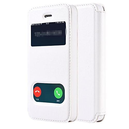 Youchan(ヨウチャン) iPhone 5 5s SE アイフォン ケース カバー レディース メンズ 窓付き シンプル 便利 ビジネス 耐衝撃 上品
