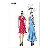 【Vogue Patterns】ワンピース型紙 very easy サイズ:US8-10-12-14-16 *8896