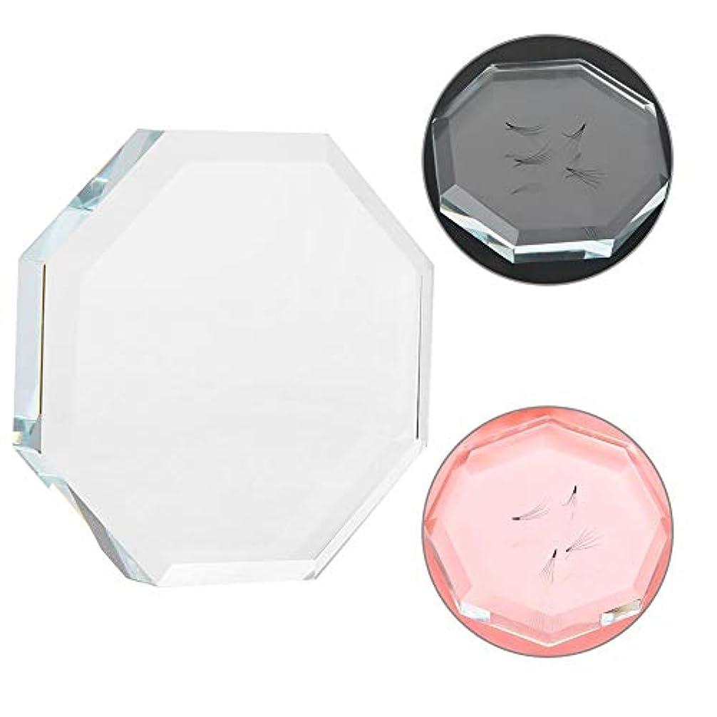 本会議十代変なガラスまつげエクステンション接着剤接着剤ホルダーパッド