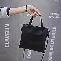 yjydada女性用ファッションハンドバッグショルダーバッグ大トートバッグレディース財布 ブラック