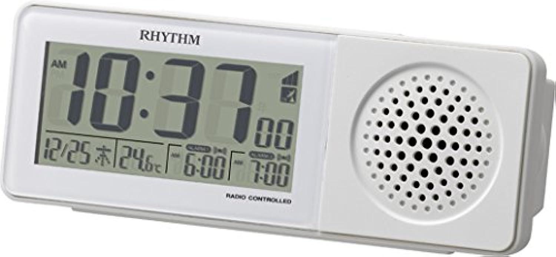 リズム時計 RHYTHM 大音量 電波 目覚まし 時計 スーパークリアトーンレッツ SR ホワイト 8RZ160SR03 8RZ160SR03