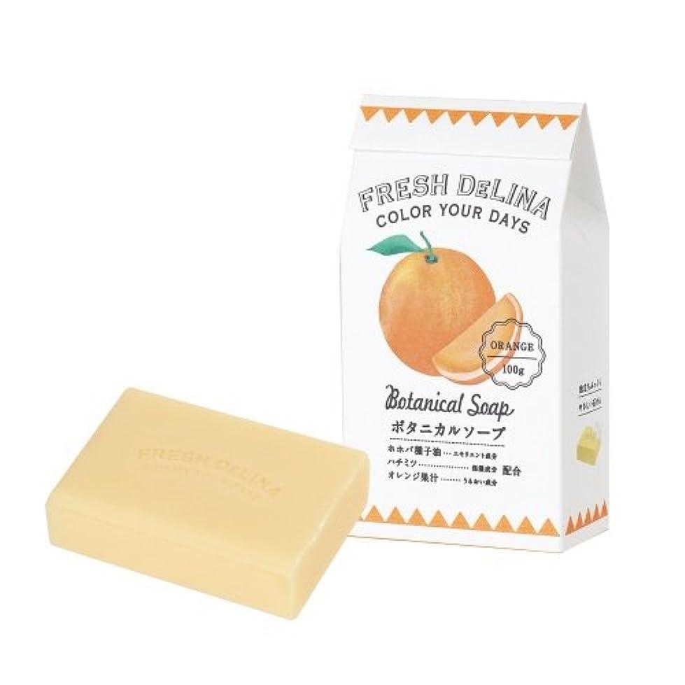 グラス揮発性謝罪するフレッシュデリーナ ボタニカルソープ オレンジ 100g