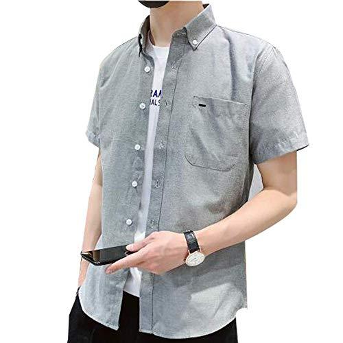 IKFSDFシャツ メンズ 半袖 夏 カジュアル ビジネス 大きい サイズ 無地 シャツ