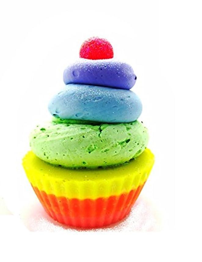 のりギャップ電気的【Two of Cups】 (トゥー オブ カップス) ゴート ミルク ソープ カップ ケーキ ( レインボー )