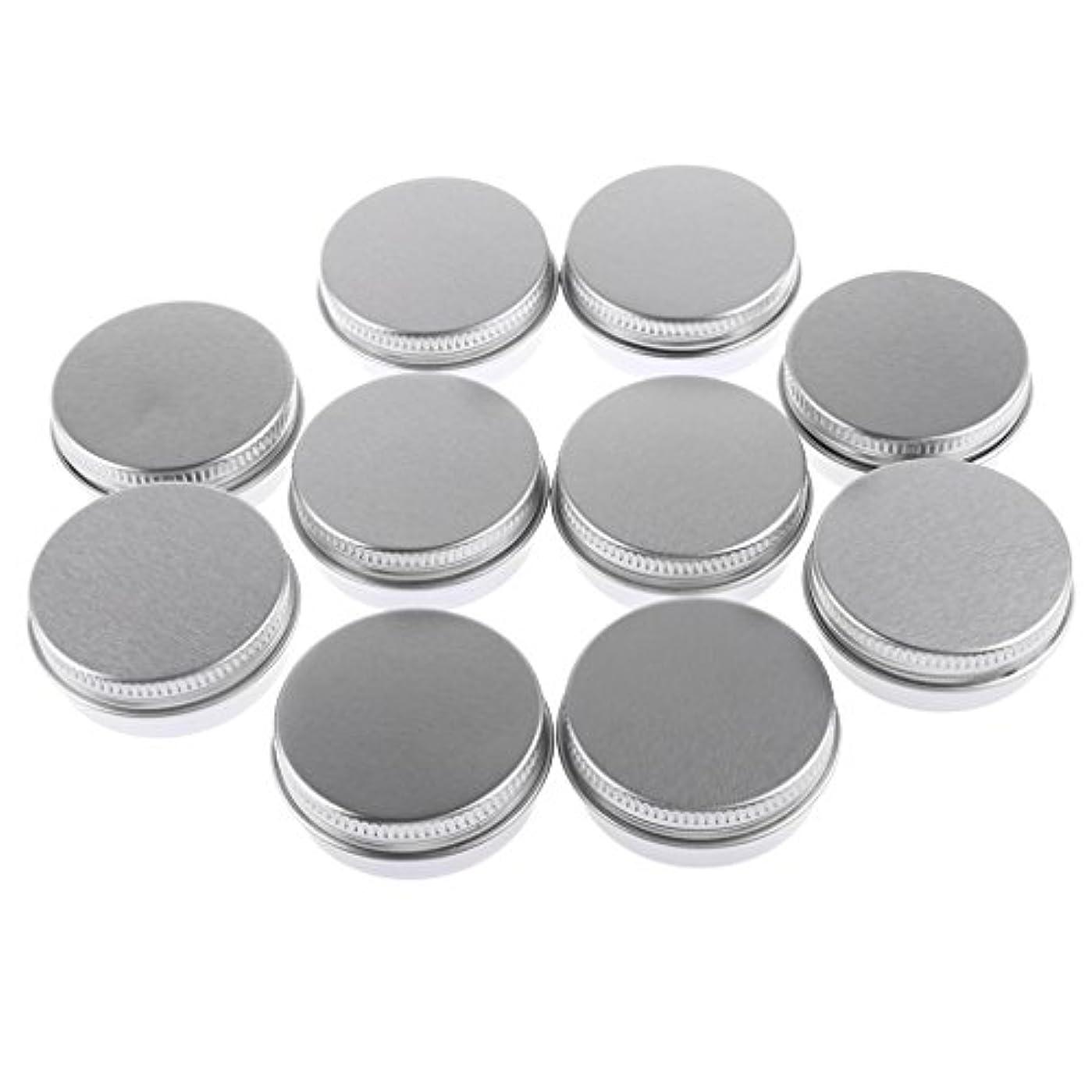 囚人用心取り消す10個入り 化粧品用 空 瓶 クリーム 缶 容器 缶ケース 蓋付き 15g