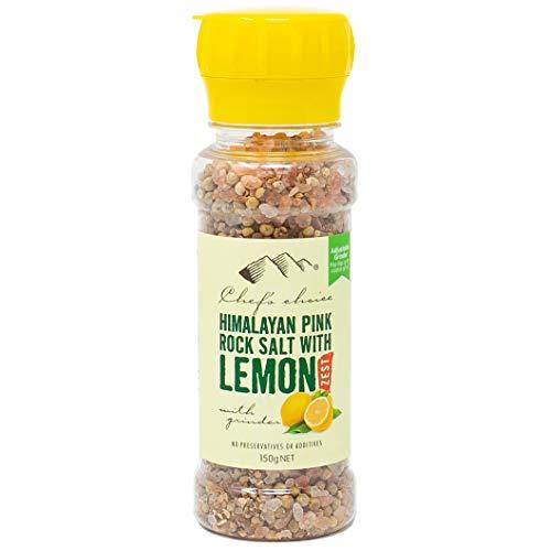 シェフズチョイス ヒマラヤ岩塩&レモンゼスト 150g ミル付き レモンピール