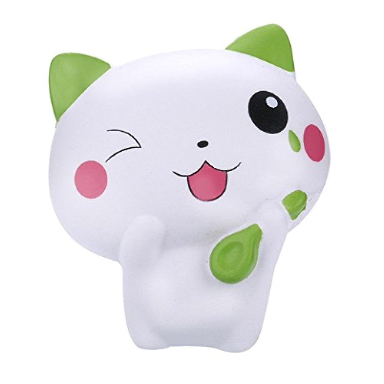 cloudro Squishies Slow Risingおもちゃ、Squishiesジャンボ動物香りつきKawaii Food Squishy男の子女の子パーティーギフト応力Relieverのおもちゃ、かわいい猫 マルチカラー 703486635017
