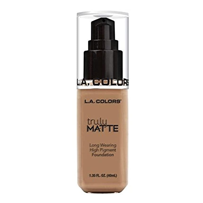 平等文踏みつけ(3 Pack) L.A. COLORS Truly Matte Foundation - Cool Beige (並行輸入品)