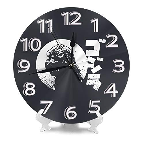 壁掛け 壁掛け時計 ゴジラ Godzilla 置き時計 ウォールクロック 静かな 円形 インテリア アート