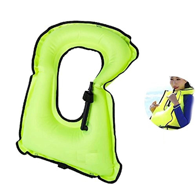 ライフジャケット フローティングベスト 救命胴衣 膨張式 ジュニア 調節可能 笛付き 肩掛け 折りたたみ式 子供用 男女兼用 旅行 海