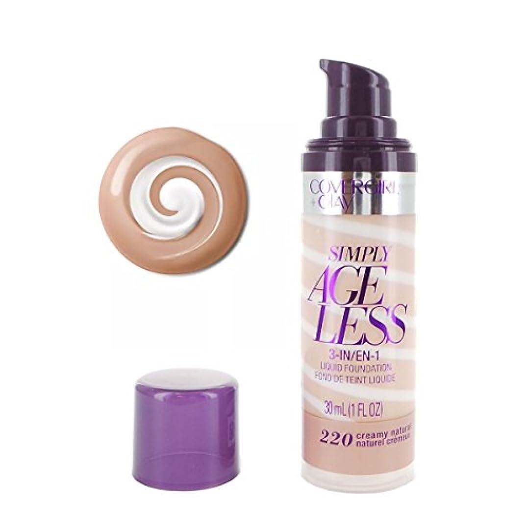 顕著静けさ食べる(3 Pack) COVERGIRL Simply Ageless 3-in-1 Liquid Foundation - Creamy Natural 220 (並行輸入品)