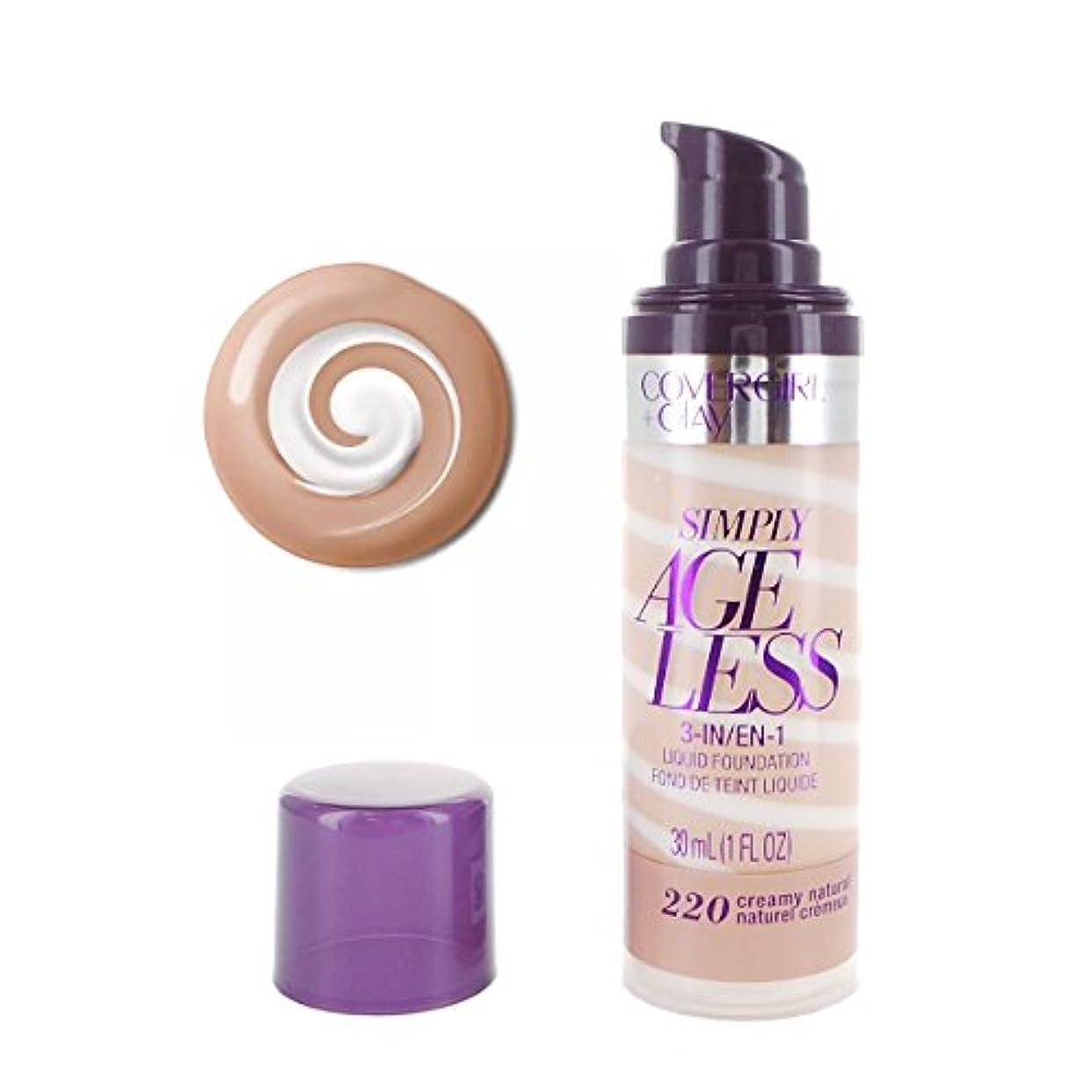 アノイコンプライアンス十億(3 Pack) COVERGIRL Simply Ageless 3-in-1 Liquid Foundation - Creamy Natural 220 (並行輸入品)