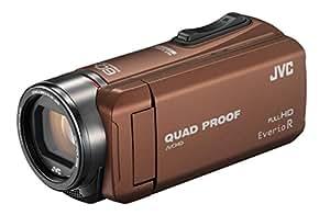 JVC ビデオカメラ Everio R  防水5m 防塵仕様 耐低温 耐衝撃 内蔵メモリー32GB ライトブラウン GZ-R400-T