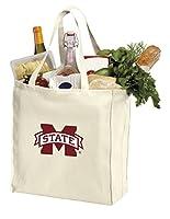 再利用可能なミシシッピ州状態大学Grocery BagsまたはMSU Bulldogsショッピングバッグ天然コットン